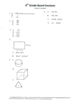 6th Grade Arithmetic,Mathematics,Geometry,activities,Combo