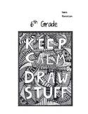 6th Grade Art Journals
