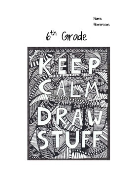 6th Grade Art Journals