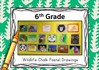 6th Grade Art Project-Wildlife Chalk Pastel Drawings
