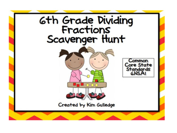 6th Grade BUNDLE: 4 Math Scavenger Hunts