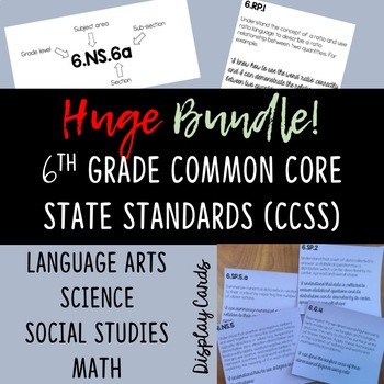 6th Grade BUNDLE of Common Core State Standards