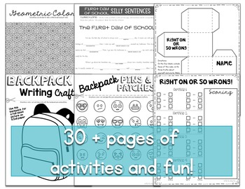 Back to School Activities for 6th Grade