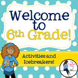 6th Grade Back to School Activities and Icebreakers