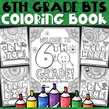 6th Grade Back to School Activities | 6th Grade Back to School Coloring  Pages