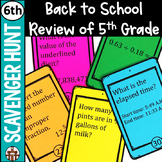 6th Grade Math Back to School Scavenger Hunt