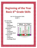 6th Grade Basic Skills Math Unit