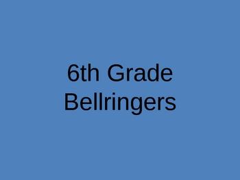 6th Grade Bellringers
