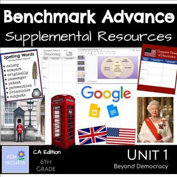 6th Grade Benchmark Advance Resources Unit 1 Beyond Democracy