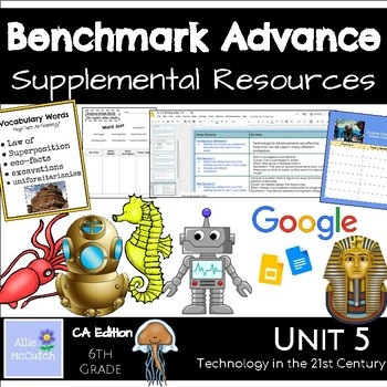 6th Grade Benchmark Advance Resources Unit 5 Technology in the 21st Century