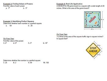 6th Grade Big Ideas Math Notes for Interactive Notebook 1.1-1.6e