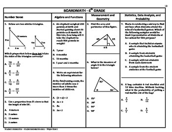 6th Grade Board Math #10 - Standardized Test Practice