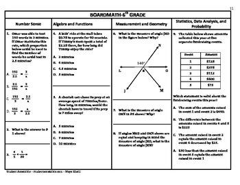 6th Grade Board Math #11 - Standardized Test Practice