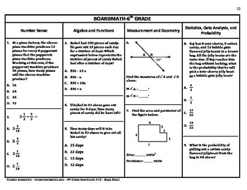 6th Grade Board Math #12 - Standardized Test Practice