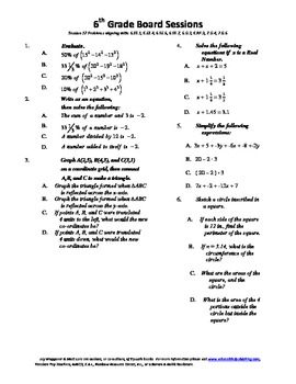 6th Grade Board Session 17,Common Core,Review,Math Counts,Quiz Bowl