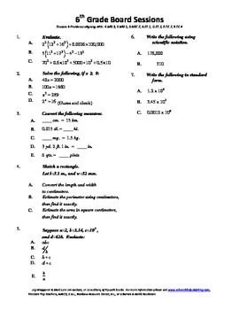 6th Grade Board Session 6,Common Core,Review.Math Counts,Quiz Bowl
