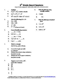 6th Grade Board Session 6,Common Core,Review.Math Counts,Q