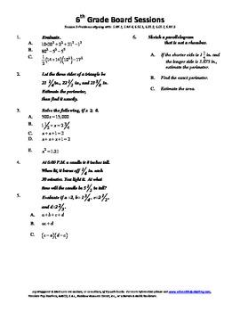 6th Grade Board Session 9,Common Core,Review.Math Counts,Q