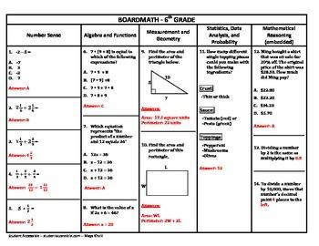 6th Grade Boardmath #8 - Standardized Test Practice