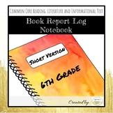 6th Grade Book Report Log