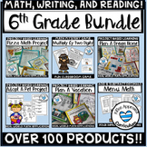 6th Grade Full Year Resources Bundle PBLs 6th Grade Math Review Packet