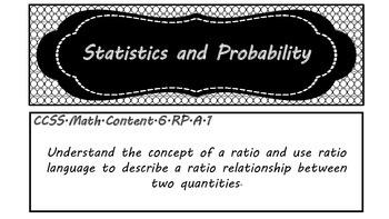 6th Grade Math CCSS (Black and White)