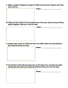 6th Grade CCSS Common Multiples and Factors Assessment w/ Answer Key