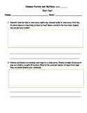 6th Grade CCSS Common Multiples and Factors Assessment w/