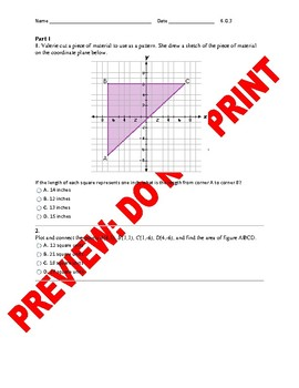6th grade ccss coordinate geometry assessment 6g3 tpt 6th grade ccss coordinate geometry assessment 6g3 ccuart Images