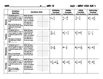 6th Grade: CCSS Daily Math Review Skills 2