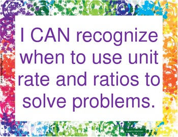 6th Grade CCSS I CAN statements