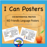 CCSS Mathematical Practices Standards I CAN Posters K - 12