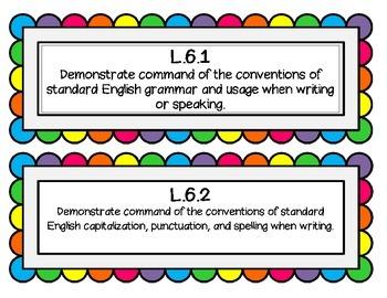 6th Grade CCSS Rainbow Cards
