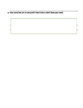 6th Grade CCSS Ratios Assessment