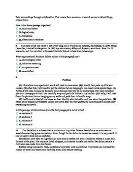 6th Grade CCSS Text Structure Assessment