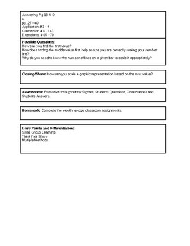 6th Grade CMP3 Lesson Plan - Comparing Bits and Pieces 1.2 - Workshop Model