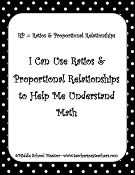 6th Grade CORE Math Checklists for Student and Teacher wit