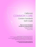 6th Grade Ca Common Core Content Standards with Prompts fo