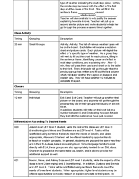 6th Grade Cause & Effect ELA/Science Interdisciplinary Unit Plan & GO