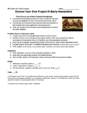 6th Grade Choose Your Own Report: Early Humankind Hominids