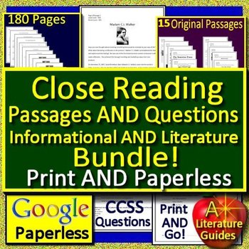 6th Grade Reading Comprehension Passages And Questions Close Reading