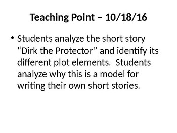 6th Grade Code X Unit 1 - Dirk the Protector PowerPoint, Lessons