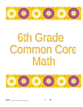 6th Grade Common Core Algebra Checkpoint Bundle