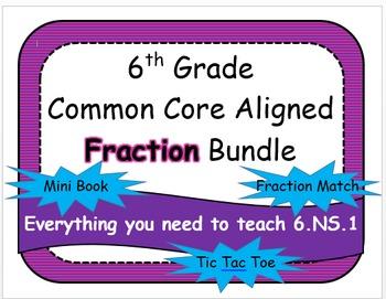 6th Grade Common Core Aligned Fraction Bundle
