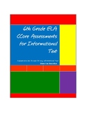 6th Grade Common Core Assessments for Information and Nonfiction Text