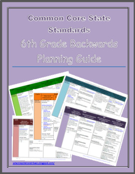 6th Grade Common Core Backwards Planning Guide