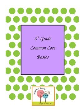 6th Grade Common Core Basics