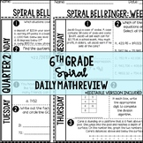 6th Grade Spiral Bellringer Review Quarter 2