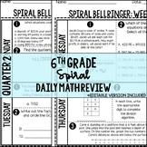 6th Grade Math Spiral Daily Review Quarter 2