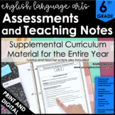 ELA Assessments - Language Arts Assessment for 6th Grade - ELA Test Prep